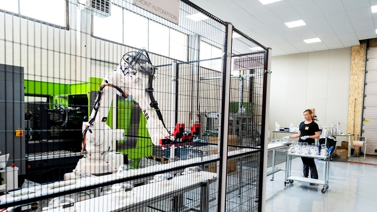 RobotStudio being the key enabler and ABB Robots, helps to meet orders by manufaturng at 10x cycle times © ABB