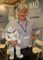 Bruno Maisonnier with his robot NAO